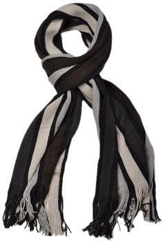 styleBREAKER fine knit mens scarf in stripes look, knitted scarf 01018117 – Bild 39
