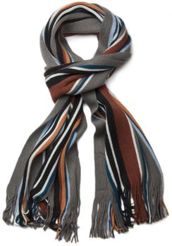 styleBREAKER fine knit mens scarf in stripes look, knitted scarf 01018117 – Bild 15
