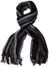 styleBREAKER Feinstrick Herren Schal im Streifen Look, Strickschal mit Fransen, weich und warm 01018117 – Bild 37
