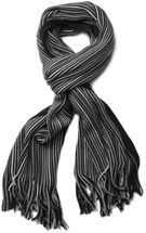 styleBREAKER fine knit mens scarf in stripes look, knitted scarf 01018117 – Bild 43