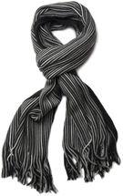 styleBREAKER Feinstrick Herren Schal im Streifen Look, Strickschal mit Fransen, weich und warm 01018117 – Bild 43