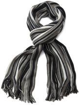 styleBREAKER Feinstrick Herren Schal im Streifen Look, Strickschal mit Fransen, weich und warm 01018117 – Bild 8