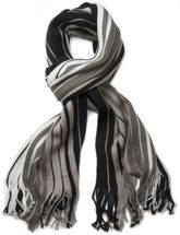 styleBREAKER fine knit mens scarf in stripes look, knitted scarf 01018117 – Bild 23