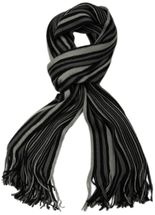 styleBREAKER fine knit mens scarf in stripes look, knitted scarf 01018117 – Bild 33