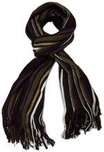 styleBREAKER Feinstrick Herren Schal im Streifen Look, Strickschal mit Fransen, weich und warm 01018117 – Bild 26