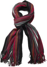 styleBREAKER fine knit mens scarf in stripes look, knitted scarf 01018117 – Bild 12