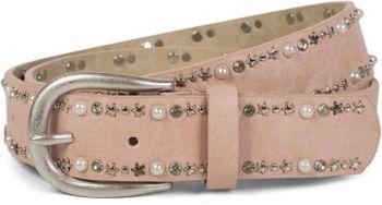 styleBREAKER Gürtel mit Perlen, Strass und Stern Nieten, Vintage Nietengürtel, kürzbar, Damen 03010087 – Bild 11