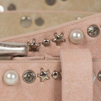styleBREAKER Gürtel mit Perlen, Strass und Stern Nieten, Vintage Nietengürtel, kürzbar, Damen 03010087 – Bild 12
