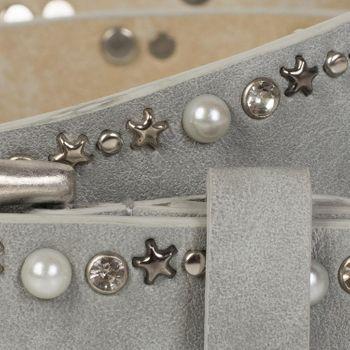styleBREAKER Gürtel mit Perlen, Strass und Stern Nieten, Vintage Nietengürtel, kürzbar, Damen 03010087 – Bild 6