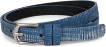 styleBREAKER schmaler unifarbener Gürtel mit Metallic Streifen, Vintage, kürzbar, Damen 03010089 – Bild 5