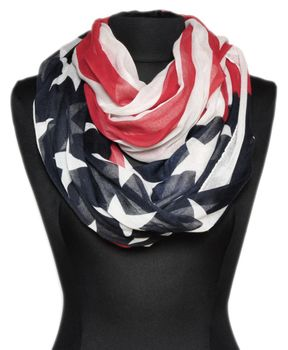 styleBREAKER loop tube scarf in United states flag design 01014034 – Bild 2