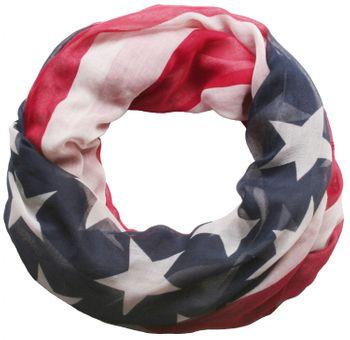 styleBREAKER Loop Schlauchschal im USA Flaggen Design, Sterne und Streifen, Stars and Stripes, Tuch, Unisex 01014034 – Bild 1