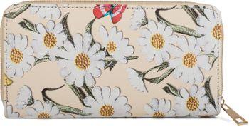 styleBREAKER Geldbörse mit Blumen Blüten und Schmetterling Muster, Reißverschluss, Portemonnaie, Damen 02040106 – Bild 13