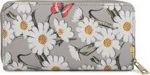 styleBREAKER Geldbörse mit Blumen Blüten und Schmetterling Muster, Reißverschluss, Portemonnaie, Damen 02040106 – Bild 7