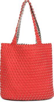 styleBREAKER Wendetasche in Flecht Optik, Shopper, Handtasche, Set aus 2 Taschen, Bag in Bag, Schultertasche, Damen 02012182 – Bild 16
