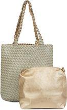 styleBREAKER Wendetasche in Flecht Optik, Shopper, Handtasche, Set aus 2 Taschen, Bag in Bag, Schultertasche, Damen 02012182 – Bild 36