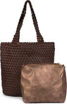 styleBREAKER Wendetasche in Flecht Optik, Shopper, Handtasche, Set aus 2 Taschen, Bag in Bag, Schultertasche, Damen 02012182 – Bild 78