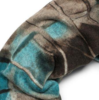 styleBREAKER Feinstrick Loop Schal mit geometrischem Vintage Muster Print, Schlauchschal, Unisex 01016156 – Bild 2