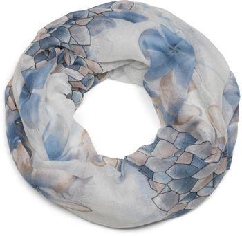 styleBREAKER Loop Schal mit Blumen, Blüten und Waben Muster Print, Schlauchschal, Tuch, Damen 01016160 – Bild 13
