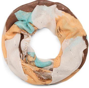 styleBREAKER Loop Schal mit Farbwisch Muster und Pailletten Faden, Schlauchschal, Tuch, Damen 01016162 – Bild 17