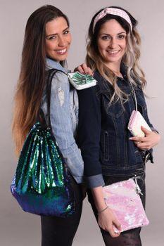 styleBREAKER Mini Bag Umhängetasche mit Wende-Pailletten, Schultertasche, Handtasche, Tasche, Damen 02012240 – Bild 50