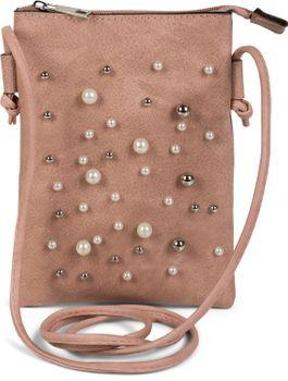 styleBREAKER Mini Bag Umhängetasche mit Perlen besetzter Vorderseite, Schultertasche, Handtasche, Tasche, Damen 02012241 – Bild 1