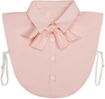 styleBREAKER Blusenkragen Einsatz mit Knopfleiste und Schleife, Kragen für Blusen und Pullover, Schluppenbluse, Damen 08020003 – Bild 15