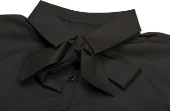 styleBREAKER Blusenkragen Einsatz mit Knopfleiste und Schleife, Kragen für Blusen und Pullover, Schluppenbluse, Damen 08020003 – Bild 9