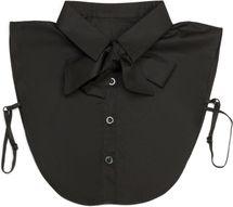 styleBREAKER Damen Blusenkragen Einsatz mit Knopfleiste und Schleife, Kragen für Blusen und Pullover, Schluppenbluse 08020003 – Bild 8