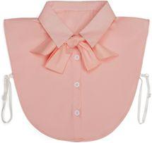 styleBREAKER Damen Blusenkragen Einsatz mit Knopfleiste und Schleife, Kragen für Blusen und Pullover, Schluppenbluse 08020003 – Bild 29