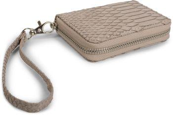 styleBREAKER Mini Geldbörse in weicher Krokodil Leder Optik, Reißverschluss mit Handschlaufe, Portemonnaie, Damen 02040108 – Bild 4