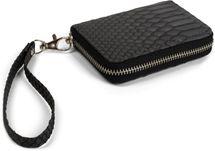 styleBREAKER Mini Geldbörse in weicher Krokodil Leder Optik, Reißverschluss mit Handschlaufe, Portemonnaie, Damen 02040108 – Bild 2