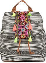 styleBREAKER Rucksack Handtasche Ethno Style mit Stickung, Perlen und Quasten, Tasche, Damen 02012246 – Bild 12