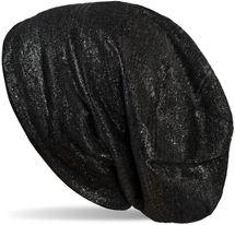 styleBREAKER Beanie Mütze mit Glitzerfaden und kleinen Pailletten, Slouch Longbeanie, Damen 04024148 – Bild 1
