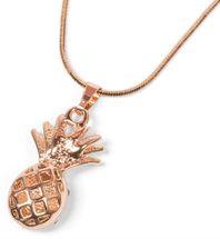 styleBREAKER Halskette mit Ananas Anhänger und Strass, Schlangenkette mit Karabiner Verschluss, Schmuck, Damen 05030047 – Bild 7