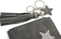 styleBREAKER Schlüsselmäppchen mit Strass Stern und Reißverschluss, Quaste, Sternanhänger, Schlüsselring, Karabiner, Damen 05050063 – Bild 6