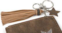 styleBREAKER Schlüsselmäppchen mit Strass Stern und Reißverschluss, Quaste, Sternanhänger, Schlüsselring, Karabiner, Damen 05050063 – Bild 18