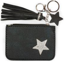 styleBREAKER Schlüsselmäppchen mit Strass Stern und Reißverschluss, Quaste, Sternanhänger, Schlüsselring, Karabiner, Damen 05050063 – Bild 11