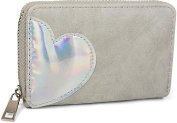 styleBREAKER Mini Geldbörse mit irisierender Metallic Herz Applikation, Reißverschluss, Portemonnaie, Damen 02040109 – Bild 12