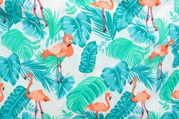 styleBREAKER XXL Strandtasche mit Flamingo Palmen Print und Reißverschluss, Schultertasche, Shopper, Damen 02012247 – Bild 5