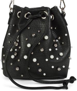 styleBREAKER kleine Bucket Bag Beuteltasche mit Perlen, Umhängetasche, Schultertasche, Handtasche, Tasche, Damen 02012248 – Bild 2