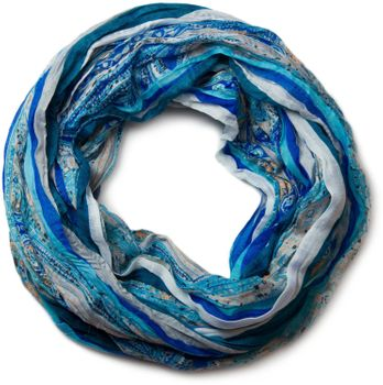 styleBREAKER tube scarf with stripes and paisley pattern 01018004 – Bild 2