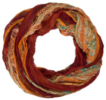styleBREAKER tube scarf with stripes and paisley pattern 01018004 – Bild 9
