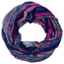 styleBREAKER tube scarf with stripes and paisley pattern 01018004 – Bild 8