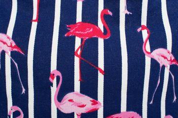 styleBREAKER XXL Strandtasche mit Streifen Flamingo Print und Reißverschluss, Schultertasche, Shopper, Damen 02012252 – Bild 10