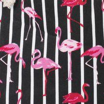 styleBREAKER XXL Strandtasche mit Streifen Flamingo Print und Reißverschluss, Schultertasche, Shopper, Damen 02012252 – Bild 16
