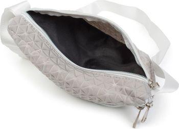 styleBREAKER Damen Bauchtasche geometrisches Muster geprägte Optik, Reißverschluss, Gürteltasche, Hüfttasche 02012253 – Bild 10