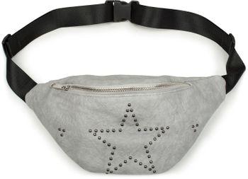 styleBREAKER Damen Bauchtasche mit Nieten Stern, Reißverschluss, Gürteltasche, Hüfttasche 02012254 – Bild 4