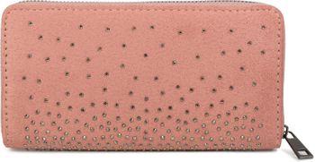 styleBREAKER Damen Geldbörse mit Strass Nieten, Reißverschluss, Portemonnaie 02040111 – Bild 1