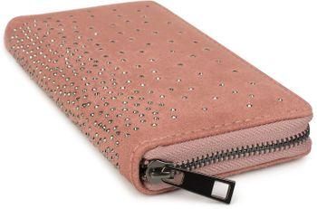 styleBREAKER Damen Geldbörse mit Strass Nieten, Reißverschluss, Portemonnaie 02040111 – Bild 3
